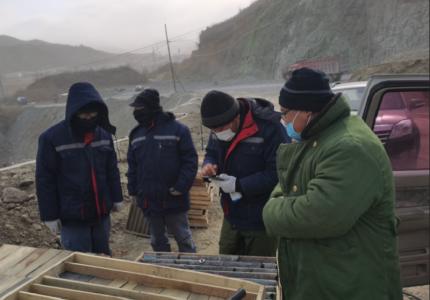【地矿】地矿事业部冒严寒、斗风雪,全力抢抓 项目进度